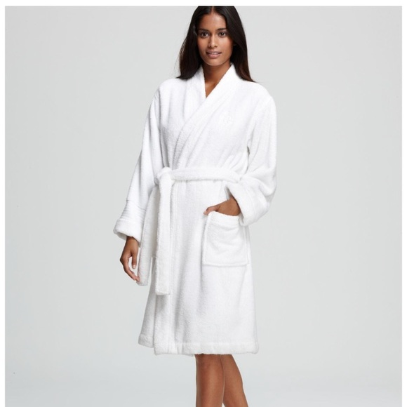 search for latest best sale detailed look NWT Ralph Lauren terry cloth white Robe NWT